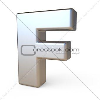 Metal font LETTER F 3D