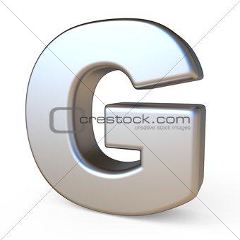 Metal font LETTER G 3D