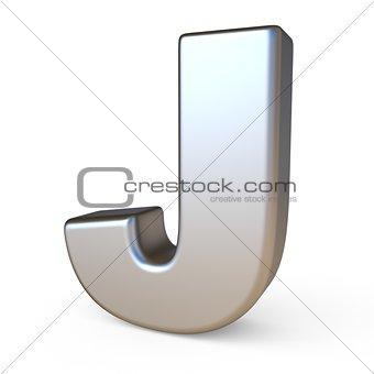 Metal font LETTER J 3D