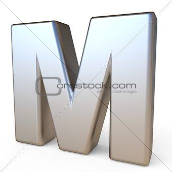 Metal font LETTER M 3D