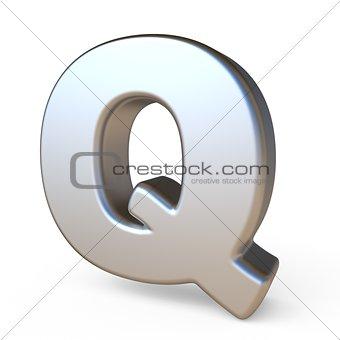 Metal font LETTER Q 3D