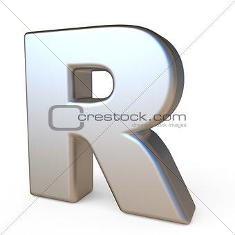 Metal font LETTER R 3D