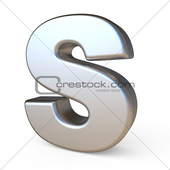 Metal font LETTER S 3D