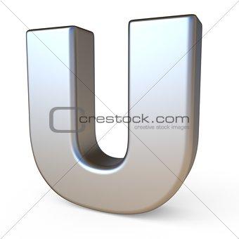 Metal font LETTER U 3D