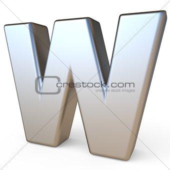 Metal font LETTER W 3D
