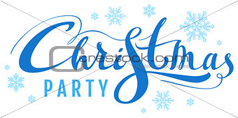 Blue Christmas party text for invite card