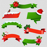 Christmas Ribbon Set Isolated