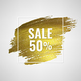 Sale Poster With Golden Blot