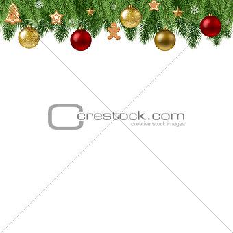 Christmas Branch Border