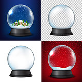 Winter Snow Globe Collection