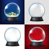Winter Snow Globe Collection