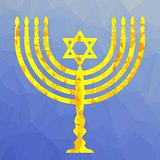 Yellow Mosaic Menorah