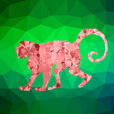 Red Mosaic Monkey