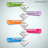 Info graphic with abstract cubes and color labels template
