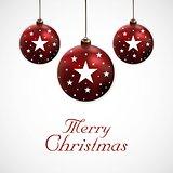 Merry Christmas Ball Background
