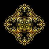 Seamless Golden Damask Pattern Background