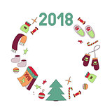 Wreath symbols of the year dog