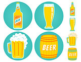 Vector icons beer