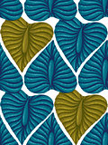 Pattern with vintage exotic tropical leaves.