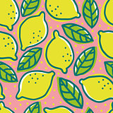Retro pattern with lemons.