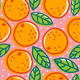 Retro pattern with oranges.