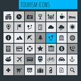 Big travel, tourism and weather icon set