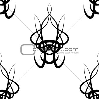 abstract black and white vector damask seamless pattern