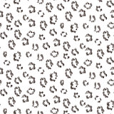 Cheetah scribbled texture seamless vector pattern.
