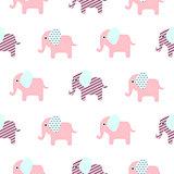 Cute elephant cartoon baby seamless pattern.