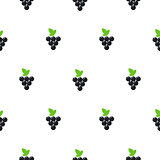 Bright summer juicy grapes cartoon seamless pattern.