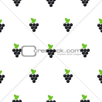 Bright summer juicy grapes cartoon seamless pattern.