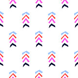 Herringbone bright berry color shapes color seamless vector pattern.