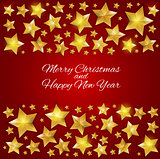 New Year Background with Christmas Star. Vector Illustration