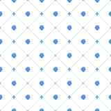 Blue watercolor seamless pattern