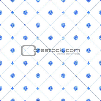 Blue watercolor seamless pattern