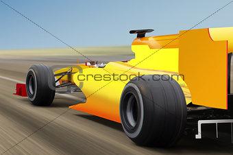 speed race on road