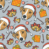 Year of the dog vector seamless pattern
