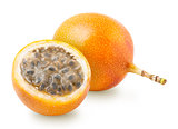 Granadilla or grenadia passion fruit isolated
