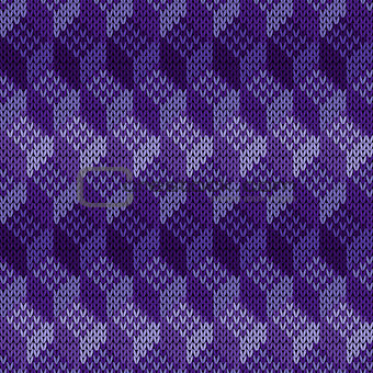Knitted Seamless Cell Cube Pattern