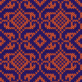 Orient Knitted Ornate Seamless Pattern