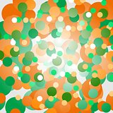 Background of orange and green circles