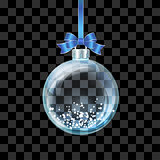 Glass transparent Christmas ball
