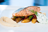 Baked salmon with potatoes
