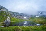 Beautiful mountain lake on the hiking route to Kjerag.