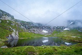 Beautiful mountain lake on the hiking route to Kjerag.