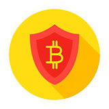 Bitcoin Secure Circle Icon