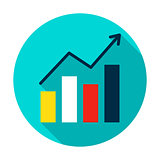Growth Statistics Circle Icon
