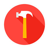 Hammer Circle Icon