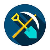 Mining Tools Circle Icon