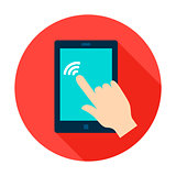 Tablet Touch Circle Icon